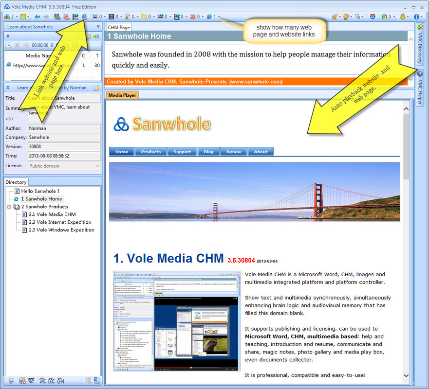 Vole Media CHM link website