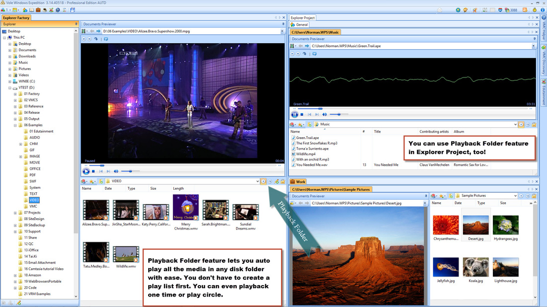 Vole Windows Expedition Playback Folder